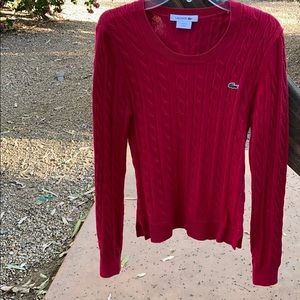 Lacoste Holiday Cable Knit Sweater
